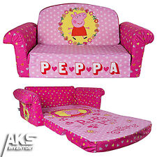 Peppa Pig Flip Open Sofa Convertable Couch Lounger Toddler Children Kids Fun New