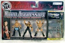 WWE Micro Aggression Series 3 Jimmy Wang Yang, Undertaker, Mr. Kennedy Jakks MOC