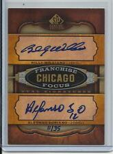 2012 SP FRANCHISE FOCUS BILLY WILLIAMS & ALFONSO SORIANO AUTO #D11/35 CUBS