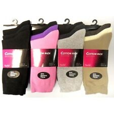 12 pairs Ladies womens Diabetic socks Non-Elastic cotton gentle grip