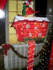 ANIMATED LIGHTED LIFE SIZE CARDINAL CHRISTMAS MAIL BOX