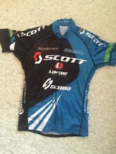 Scudo Scott Limar SS Cycling Jersey LARGE Blue/White ESI Grips Optic Nerve
