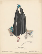 Im Wald Pochoir Gazette de Bon Ton 1924 Mode ART DECO R. Muy