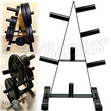 Weight Lifting Rack Stand Plate Tree Holder Home Gym A Frame Fitness Equipment