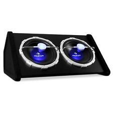 SUPER AUNA POWER: 2000W SUBWOOFER LAUTSPRECHER 2x30CM BASS 12 ZOLL BOX AUTO LED