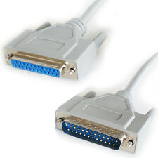 5m - 25 forma Rs232 Macho A Hembra Cable Recto Plomo-Serial Pin Db25