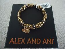 ALEX AND ANI RED JASPER WRAP Rafaelian Gold Finish Bangle  New W/Tag Card & Box