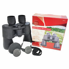 BINOCULARS FERNGLAS STURDY RUBBERIZED HOUSING COMPASS QUALITY CARRY CASE 10X50