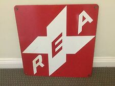 porcelain sign RAILWAY EXPRESS AGENCY REA