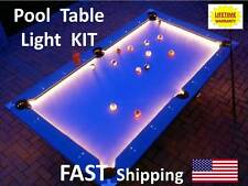 LED Pool & Billiard Table Lighting KIT -light your pool cue stick rack accessory