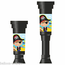 4 Cute Little Pirate Children's Birthday Party Favours Loot Gifts Telescopes