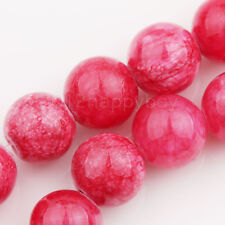 30/40/50PCS Mottle Glass Marble Round Beads Europ Jewelry Making DIY 6/8/10mm