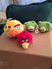 Angry Birds Lot Yellow Bird Backpack Clip And Three Pencil Top Plush