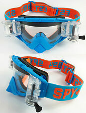 SPY OMEN MOTOCROSS MX ENDURO GOGGLES SPEED WEEK BLUE with GSVS ROLL OFF SYSTEM
