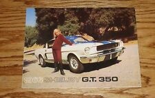 1966 Ford Mustang Shelby GT 350 Foldout Sales Brochure 66