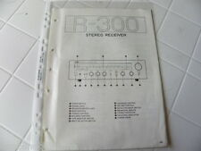 Yamaha Original Service Schematic R-300  Stereo Receiver