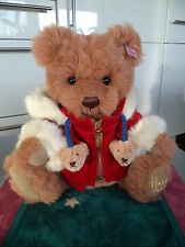 Steiff Harrods Weihnachtsbär Benjamin EAN 662751 Teddy Bär Alpaca braun 2007