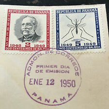 Carlos Finlay MD & Yellow Fever Panama First Day Cover Stamps RARE FIND FDC