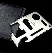 New 1pcs 11 in 1 Multi Credit Card Outdoor Survival Knife Camping Tool with ECA