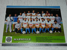 CLIPPING POSTER FOOTBALL 1984-1985 OLYMPIQUE MARSEILLE OM DROIT AU BUT VELODROME