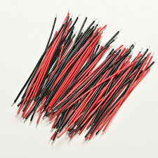 200X Black Red Kit Motherboard Breadboard Jumper Cable Wires Set Tinned 5cm Top