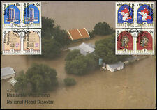 South Africa 1988 Flood Relief Fund M/S Large FDC First Day Cover#V2603