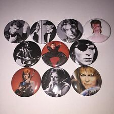10 David Bowie button badges Labrinth Starman Ziggy Stardust Hunky Dory Changes