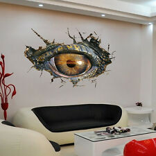 3D Big Dinosaur's eye Wall Sticker Decal Art Decor Vinyl Home Room Door Mural