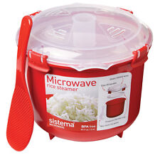 Sistema Klip It Microwave Rice Quinoa Polenta Couscous Steamer Cooker 2.6L NEW