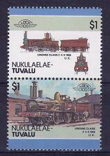 TUVALU NUKULAELAE LOCO 100 UNDINE CLASS LOCOMOTIVE UNITED KINGDOM STAMPS MNH