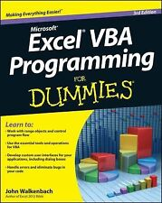 Excel VBA Programming For Dummies, Walkenbach, John, Good Books