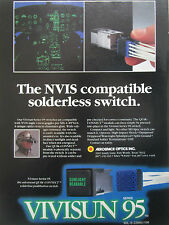 11/1990 PUB VIVISUN SERIES 95 SWITCH NVIS NIGHT VISION GOGGLES PILOT HELMET AD