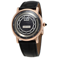 Cartier Rotonde de Cartier Jumping Hours Manual Wind 18 kt Rose Gold Mens Watch