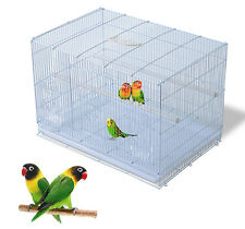 Bird Cage Play Metal Crate House Feeder Perch Cockatiel Conure Finch Parakeet