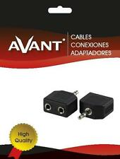 Conector Adaptador Audio Doble Jack  Hembra 3,5mm A Jack Macho 3,5mm Stereo