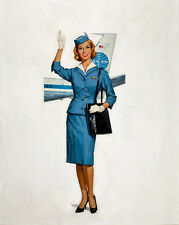 "Vintage Pin Up Pan American World Airways 11 x 14""  Photo Print"