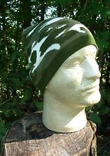dark army green, grey,  white camoflauge or camo beanie knit winter stocking cap