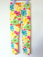 New Kids Girls Full Length Floral Soft Jersey Leggings Size 2-6 Years