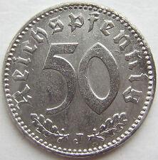 TOP! 50 REICHSPFENNIG 1943 J in VORZÜGLICH+++ SELTEN !!!