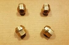 MASERATI GHIBLI INDY MEXICO BORA MERAK KHAMSIN NEW BRASS LUG NUTS SET OF 4