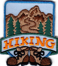 """HIKING"" - IRON ON EMBROIDERED PATCH/SPORTS, HIKER, OUTDOORS, SPORTS, CAMPING"