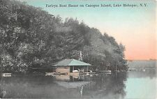 c.1910 Farleys Boat House Canopus Island Lake Mahopac NY post card Putnam County