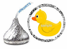 216 RUBBER DUCKY BABY SHOWER FAVORS HERSHEY KISS KISSES LABELS