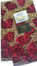 Mitex African Fabric, Guaranteed Holland Brown Fuchsia diamond 2016,  6 yards