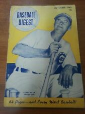 Vintage Baseball Digest September 1945 Chicago Cubs Stan Hack cover vg condition