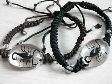 PAIR REAL BLACK SCORPION LUCITE BRACELET BANGLE INSECT JEWELRY TAXIDERMY GIFT