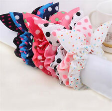 10pcs Lovely Girl&Kids Rabbit Ear Elastic Hair Tie Bands Headband Ponytail Decor
