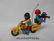 PLAYMOBIL. TIENDA PLAYMOXOY76. CAMARAS DE TELEVISIÓN CON MOTO REF. 3847.