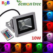 1X 10W IP65 RGB MULTICOLOUR LED FLOOD LIGHT OUTDOOR SECURITY GARDEN YARD LAMP