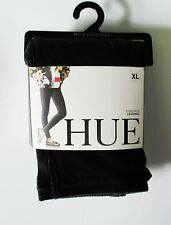 HUE Womens Corduroy Leggings Black U16947 Sz XL - NWT